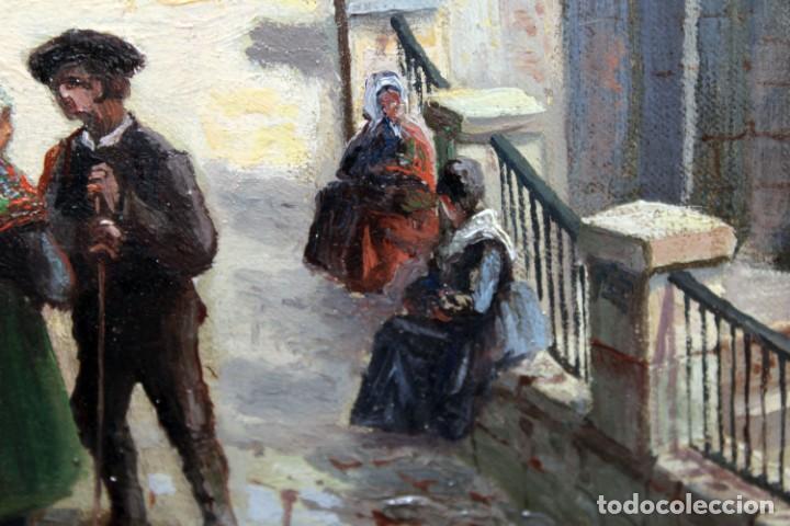 Arte: MANUEL FERNÁNDEZ SANAHUJA (Madrid, 1835 - 1884) OLEO SOBRE TELA DEL AÑO 1877. CATEDRAL DE BURGOS - Foto 25 - 236548955