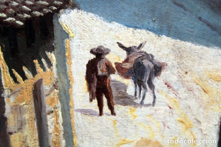 Arte: MANUEL FERNÁNDEZ SANAHUJA (Madrid, 1835 - 1884) OLEO SOBRE TELA DEL AÑO 1877. CATEDRAL DE BURGOS - Foto 26 - 236548955