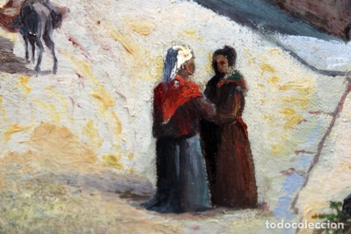 Arte: MANUEL FERNÁNDEZ SANAHUJA (Madrid, 1835 - 1884) OLEO SOBRE TELA DEL AÑO 1877. CATEDRAL DE BURGOS - Foto 27 - 236548955