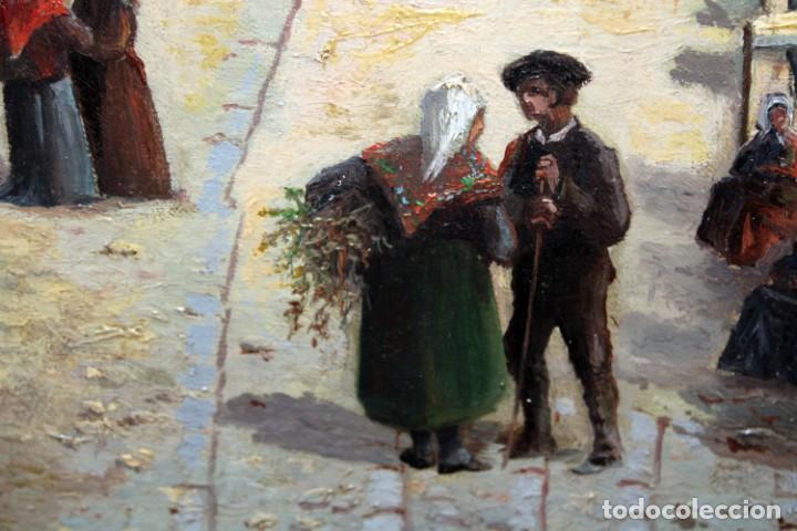 Arte: MANUEL FERNÁNDEZ SANAHUJA (Madrid, 1835 - 1884) OLEO SOBRE TELA DEL AÑO 1877. CATEDRAL DE BURGOS - Foto 28 - 236548955
