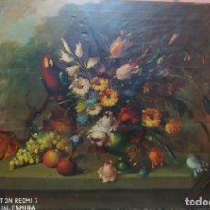 Arte: BODEGON FLORAL MUY ANTIGUO. Lote 236613790