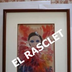 Arte: PINTURA ACARELA CON MARCO Y CRISTAL - MASCARAS VENECIA - JOSEP MARFA GUARRO - DE -BCN -. Lote 236624795
