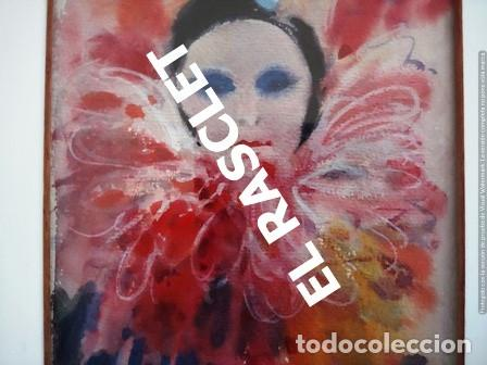 Arte: PINTURA ACARELA CON MARCO Y CRISTAL - MASCARAS VENECIA - JOSEP MARFA GUARRO - DE -BCN - - Foto 3 - 236624795