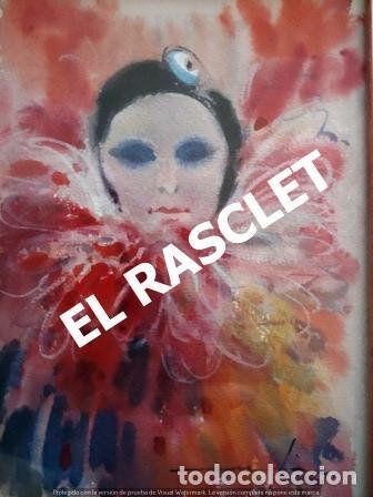 Arte: PINTURA ACARELA CON MARCO Y CRISTAL - MASCARAS VENECIA - JOSEP MARFA GUARRO - DE -BCN - - Foto 5 - 236624795