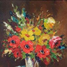 Arte: GRUNWALD ALSGE ESTEBAN (1909-1960) OLEO SOBRE TELA. FLORERO. Lote 236655305