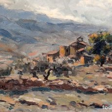 Arte: FIRMADO VIVES. OLEO SOBRE TABLA FECHADO DEL AÑO 1947. PAISAJE. Lote 236661650