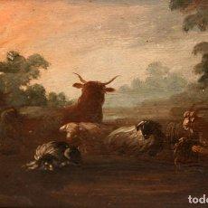 Arte: ANONIMO DE FINALES DEL SIGLO XVIII. OLEO SOBRE TABLA SIN FIRMAR.. Lote 236667605