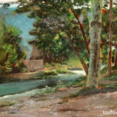 Arte: CLOTILDE ESTEBANELL. OLEO SOBRE CARTON DE APROXIMADAMENTE 1940. PAISAJE. Lote 236668480