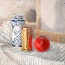 Arte: JOAN JOSEP BERMÚDEZ AGUILAR (FIÑANA, ALMERÍA, 1926 - 2012) OLEO TELA DL AÑO 1976 Y TITULADO CONTRAST. Lote 236668715