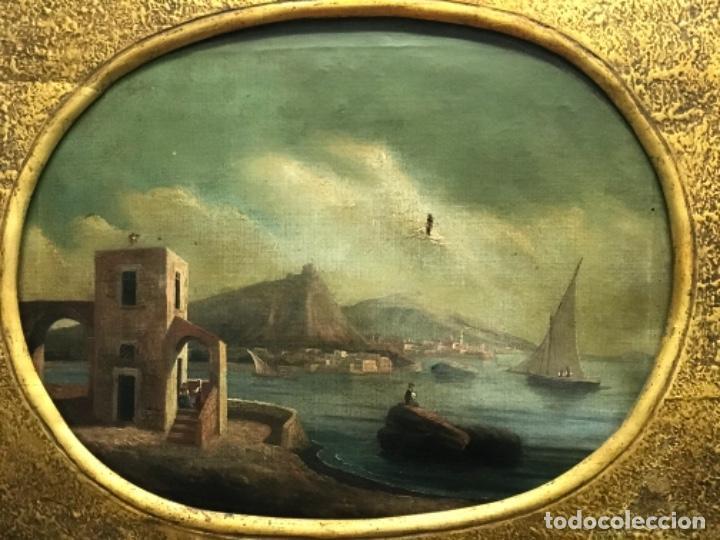 Arte: OLEO SOBRE LIENZO ESCUELA ITALIANA, MARINA. SIGLO XVIII - Foto 2 - 236671815