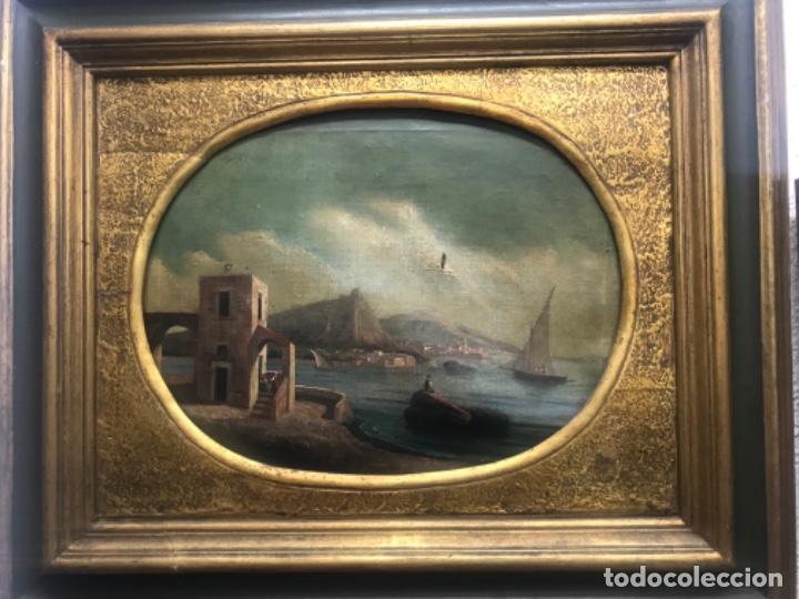 Arte: OLEO SOBRE LIENZO ESCUELA ITALIANA, MARINA. SIGLO XVIII - Foto 8 - 236671815