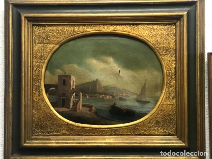 OLEO SOBRE LIENZO ESCUELA ITALIANA, MARINA. SIGLO XVIII (Arte - Pintura - Pintura al Óleo Antigua siglo XVIII)