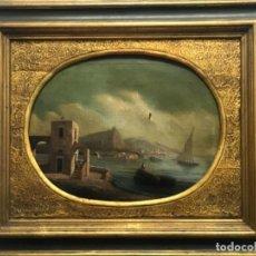 Arte: OLEO SOBRE LIENZO ESCUELA ITALIANA, MARINA. SIGLO XVIII. Lote 236671815