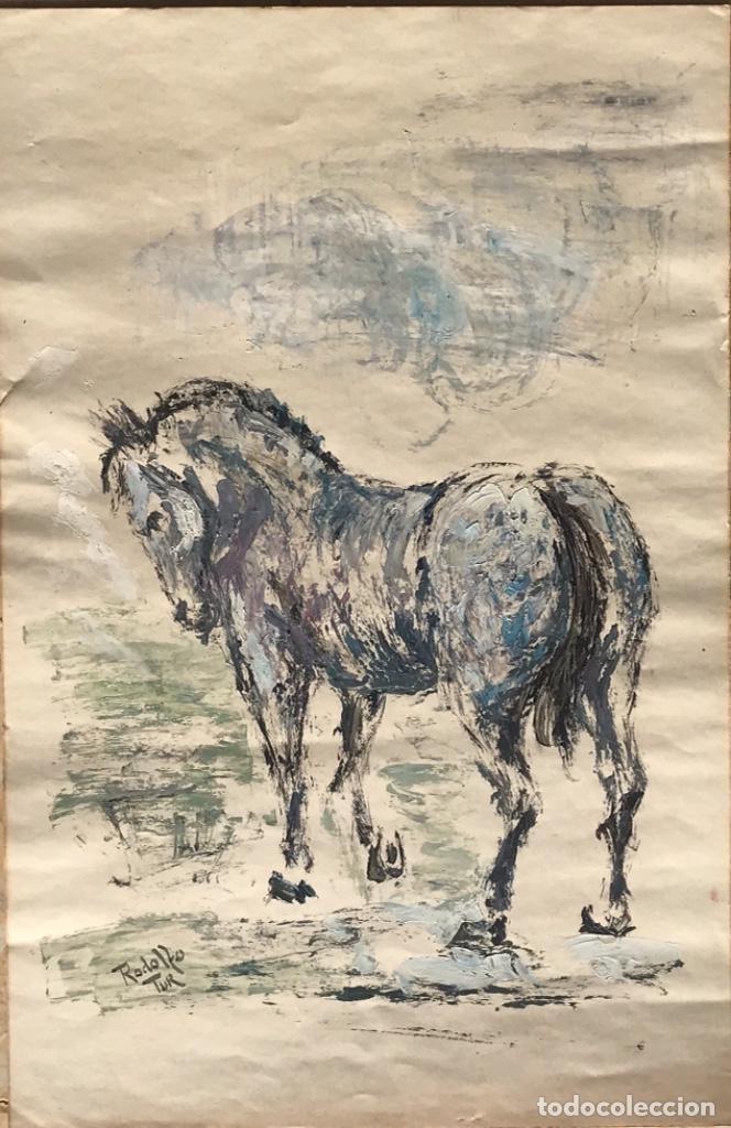 RODOLFO TUR TECNICA MIXTA 1960'S. (Arte - Pintura - Pintura al Óleo Contemporánea )
