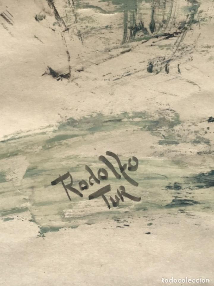 Arte: RODOLFO TUR TECNICA MIXTA 1960'S. - Foto 3 - 236694490