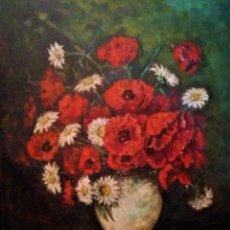 Arte: JARRON CON AMAPOLAS MUÑOZ MANDIVAS 1930 - 1939. Lote 236728930