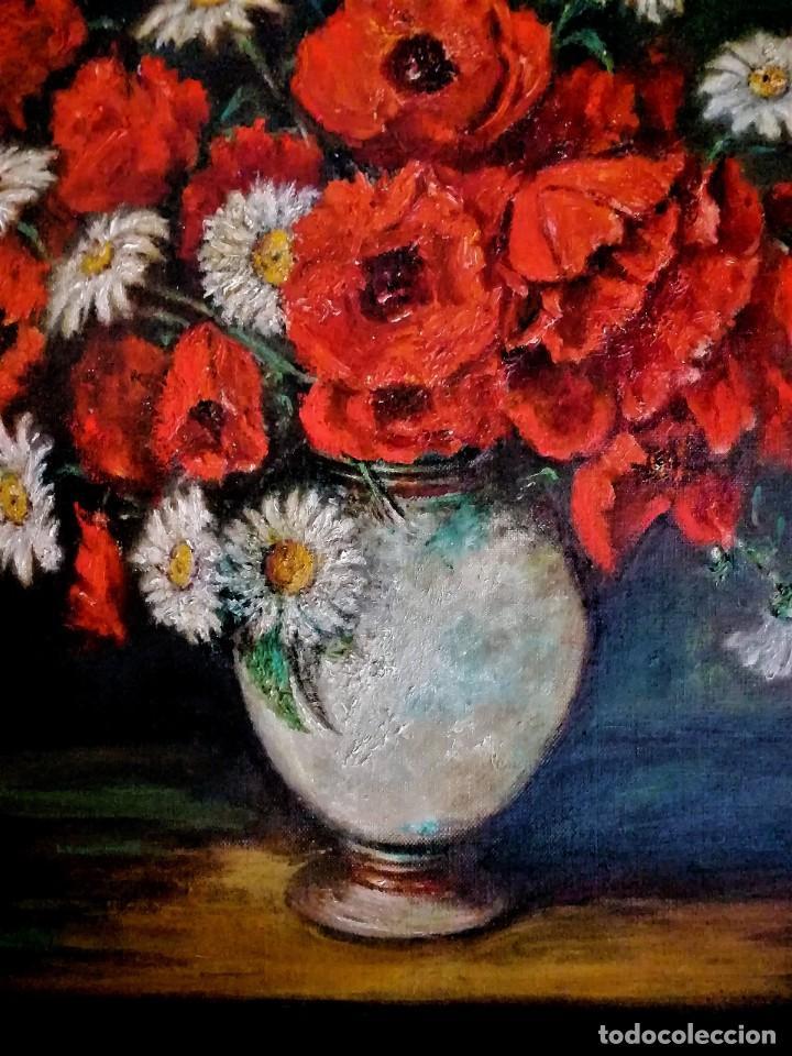 Arte: JARRON CON AMAPOLAS MUÑOZ MANDIVAS 1930 - 1939 - Foto 4 - 236728930