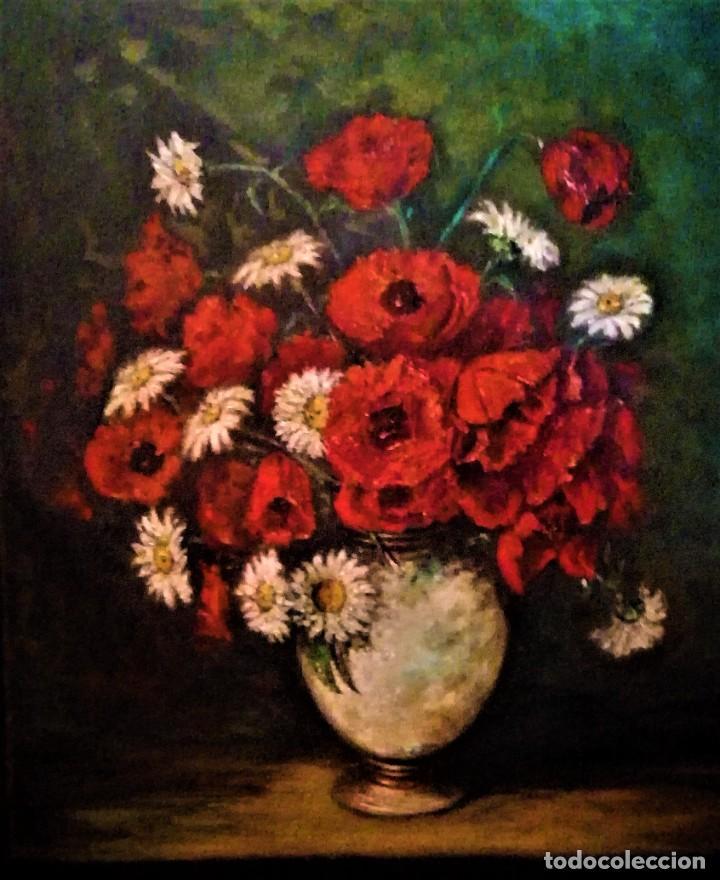 Arte: JARRON CON AMAPOLAS MUÑOZ MANDIVAS 1930 - 1939 - Foto 5 - 236728930