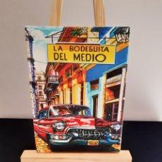 Arte: PEQUEÑO CUADRO AL OLEO DE LA BODEGUITA DEL MEDIO-CUBA.. Lote 236733270