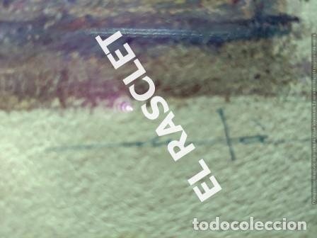 Arte: PINTURA OLEO SOBRE PAPEL - CON MARCO Y CRISTAL -PLAÇA LLANÇA - JOSEP MARFA GUARRO - DE -BCN -1990 - - Foto 9 - 236761200