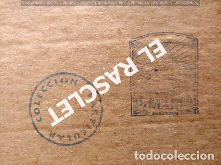 Arte: PINTURA OLEO SOBRE PAPEL - CON MARCO Y CRISTAL -PLAÇA LLANÇA - JOSEP MARFA GUARRO - DE -BCN -1990 - - Foto 12 - 236761200