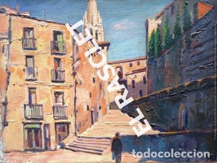 PINTURA OLEO SOBRE TELA - GIRONA - IGLESIA SAN FELIX - JOSEP MARFA GUARRO - DE -BCN -1990 - (Arte - Pintura Directa del Autor)