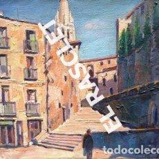 Arte: PINTURA OLEO SOBRE TELA - GIRONA - IGLESIA SAN FELIX - JOSEP MARFA GUARRO - DE -BCN -1990 -. Lote 236773795
