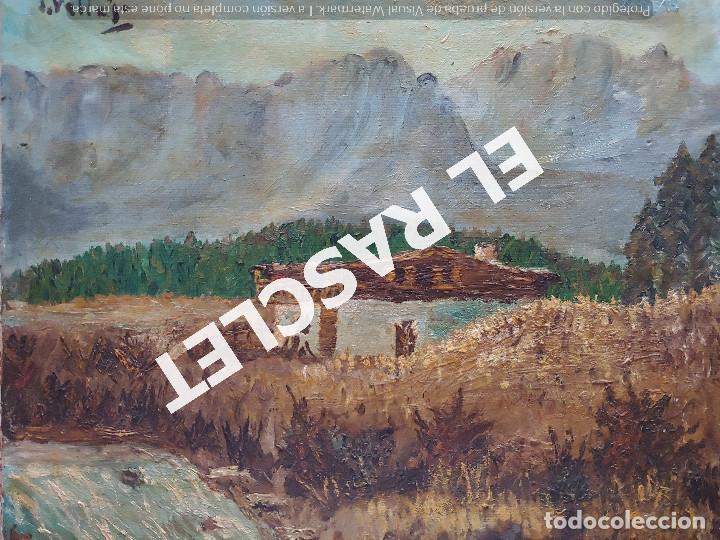 PINTURA OLEO SOBRE TELA DE JORDI VALLEJO - CASA EN EL CAMPO - AÑO 1979- (Arte - Pintura Directa del Autor)