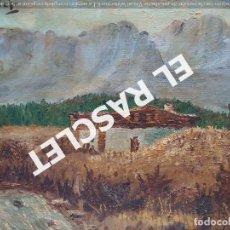 Arte: PINTURA OLEO SOBRE TELA DE JORDI VALLEJO - CASA EN EL CAMPO - AÑO 1979-. Lote 236780690