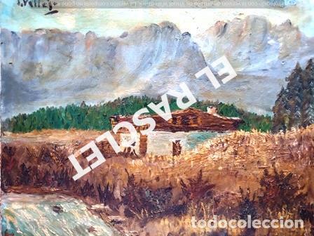 Arte: PINTURA OLEO SOBRE TELA DE JORDI VALLEJO - CASA EN EL CAMPO - AÑO 1979- - Foto 2 - 236780690