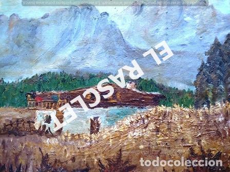 Arte: PINTURA OLEO SOBRE TELA DE JORDI VALLEJO - CASA EN EL CAMPO - AÑO 1979- - Foto 7 - 236780690