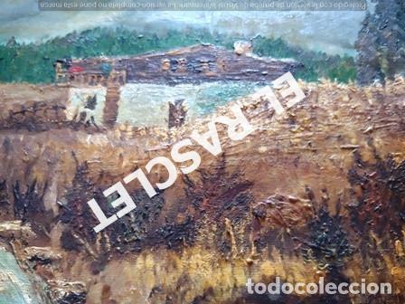 Arte: PINTURA OLEO SOBRE TELA DE JORDI VALLEJO - CASA EN EL CAMPO - AÑO 1979- - Foto 10 - 236780690