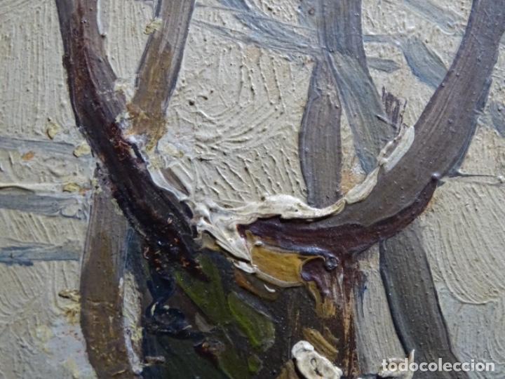 Arte: ÓLEO DE FRANCISCO GIMENO ARASA.PAISAJE NEVADO PUENTE DE PRAGA.ÉPOCA MADRILEÑA CON CARLOS DE HAES. - Foto 14 - 236808420