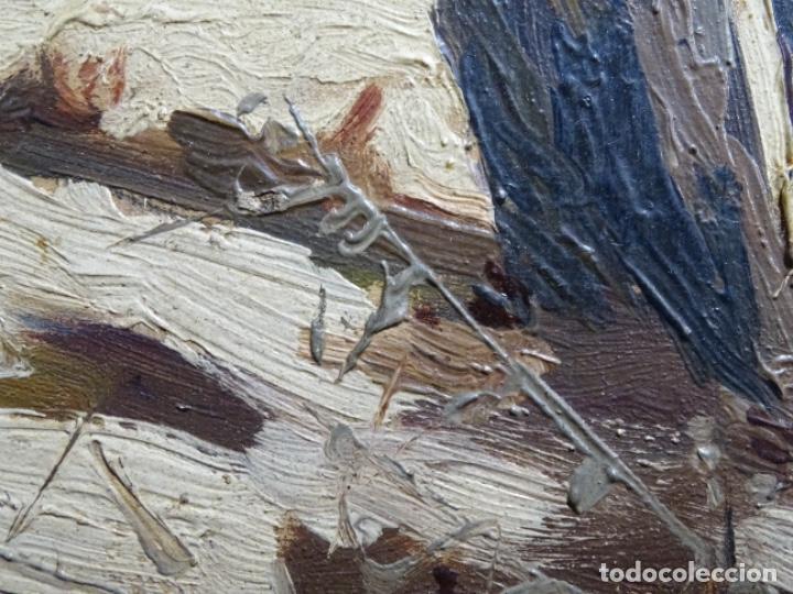 Arte: ÓLEO DE FRANCISCO GIMENO ARASA.PAISAJE NEVADO PUENTE DE PRAGA.ÉPOCA MADRILEÑA CON CARLOS DE HAES. - Foto 15 - 236808420