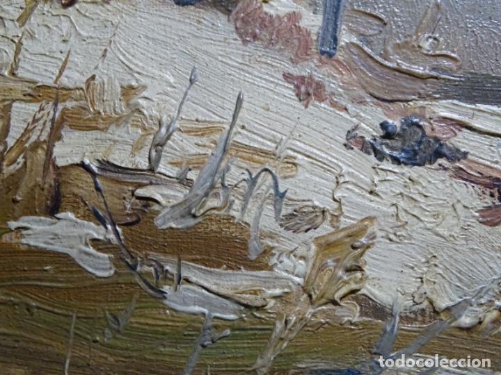 Arte: ÓLEO DE FRANCISCO GIMENO ARASA.PAISAJE NEVADO PUENTE DE PRAGA.ÉPOCA MADRILEÑA CON CARLOS DE HAES. - Foto 16 - 236808420