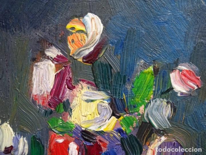 Arte: ÓLEO DE SEBASTIÀ BADIA CERDA(CALDES DE MONTBUI 1916-2009).BODEGON COLORIDO.ALUMNO DE MANOLO HUGUE. - Foto 4 - 236810535