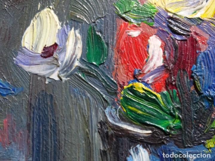 Arte: ÓLEO DE SEBASTIÀ BADIA CERDA(CALDES DE MONTBUI 1916-2009).BODEGON COLORIDO.ALUMNO DE MANOLO HUGUE. - Foto 5 - 236810535