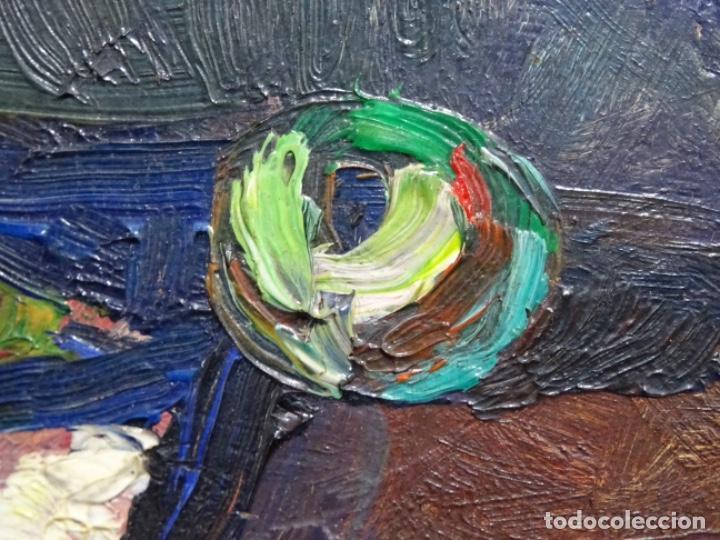 Arte: ÓLEO DE SEBASTIÀ BADIA CERDA(CALDES DE MONTBUI 1916-2009).BODEGON COLORIDO.ALUMNO DE MANOLO HUGUE. - Foto 6 - 236810535