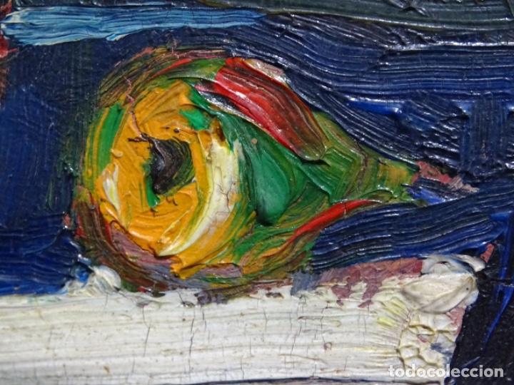 Arte: ÓLEO DE SEBASTIÀ BADIA CERDA(CALDES DE MONTBUI 1916-2009).BODEGON COLORIDO.ALUMNO DE MANOLO HUGUE. - Foto 7 - 236810535