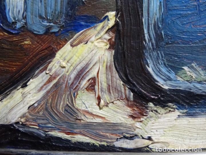 Arte: ÓLEO DE SEBASTIÀ BADIA CERDA(CALDES DE MONTBUI 1916-2009).BODEGON COLORIDO.ALUMNO DE MANOLO HUGUE. - Foto 8 - 236810535