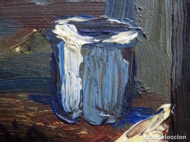 Arte: ÓLEO DE SEBASTIÀ BADIA CERDA(CALDES DE MONTBUI 1916-2009).BODEGON COLORIDO.ALUMNO DE MANOLO HUGUE. - Foto 9 - 236810535