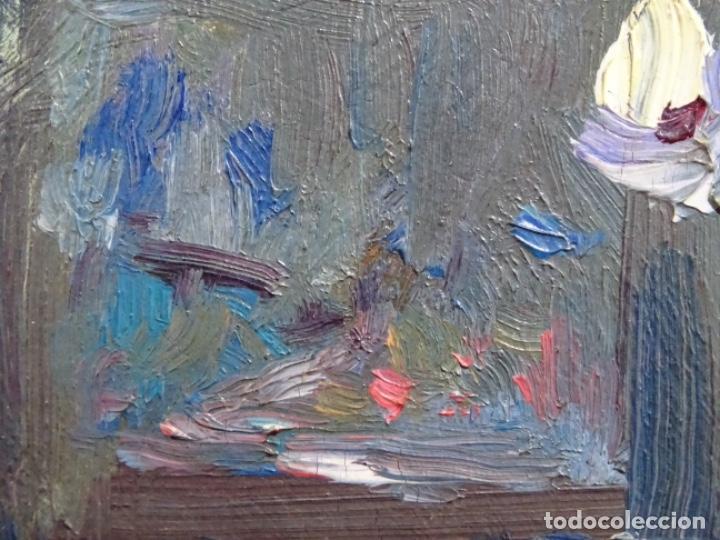 Arte: ÓLEO DE SEBASTIÀ BADIA CERDA(CALDES DE MONTBUI 1916-2009).BODEGON COLORIDO.ALUMNO DE MANOLO HUGUE. - Foto 10 - 236810535