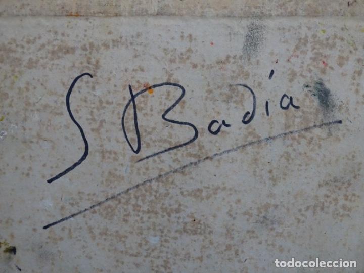 Arte: ÓLEO DE SEBASTIÀ BADIA CERDA(CALDES DE MONTBUI 1916-2009).BODEGON COLORIDO.ALUMNO DE MANOLO HUGUE. - Foto 14 - 236810535