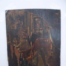 Arte: INTERESANTE OLEO SOBRE TABLA DE MADERA ( SILLON DE BARBERIA). Lote 236858515