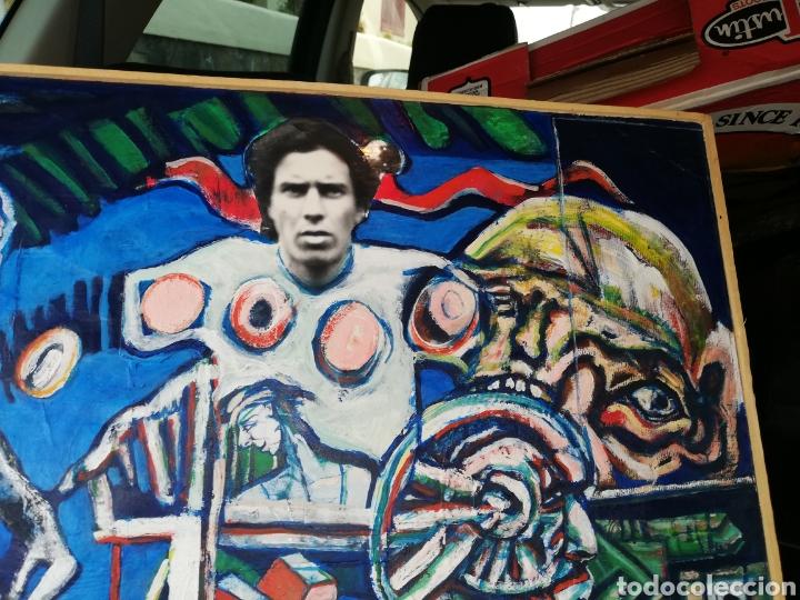 Arte: Oleo madera arte urbano.. Comprado exposición NewYork.. Agotando todas las obras duro una semana. - Foto 3 - 236883245
