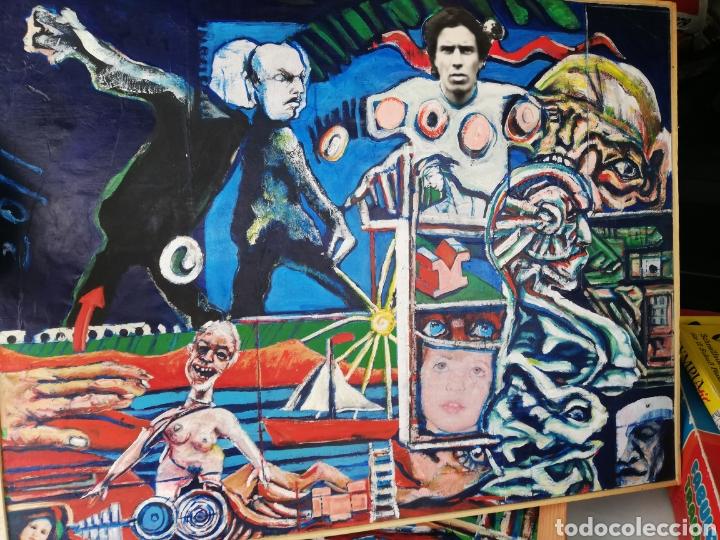 OLEO MADERA ARTE URBANO.. COMPRADO EXPOSICIÓN NEWYORK.. AGOTANDO TODAS LAS OBRAS DURO UNA SEMANA. (Arte - Pintura - Pintura al Óleo Moderna sin fecha definida)