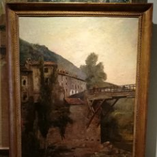 Arte: ESPECTACULAR PAISAJE RURAL POR FRANCESC TORRESCASSANA (1845-1918). Lote 236906805