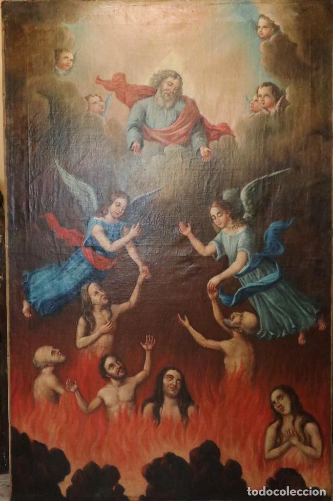Arte: Bodegón de cerámica y frutas. Óleo sobre tabla. Cataluña, med. S. XX. Mide 40 x 50 cm. - Foto 11 - 236458095