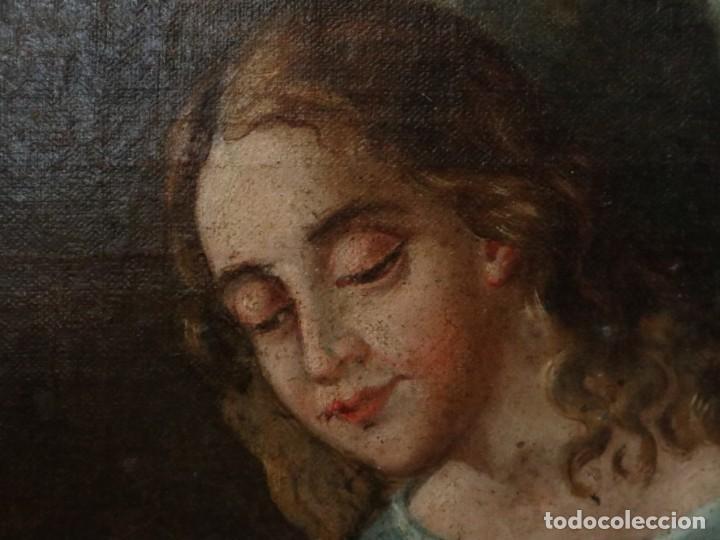 Arte: Bodegón de cerámica y frutas. Óleo sobre tabla. Cataluña, med. S. XX. Mide 40 x 50 cm. - Foto 22 - 236458095
