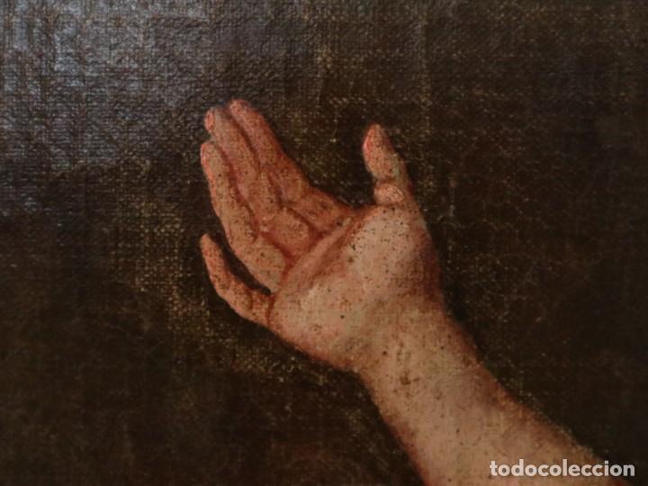 Arte: Bodegón de cerámica y frutas. Óleo sobre tabla. Cataluña, med. S. XX. Mide 40 x 50 cm. - Foto 23 - 236458095